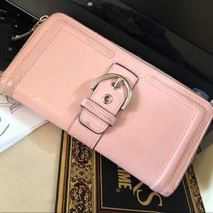 Coach Pink Buckle Wallet
